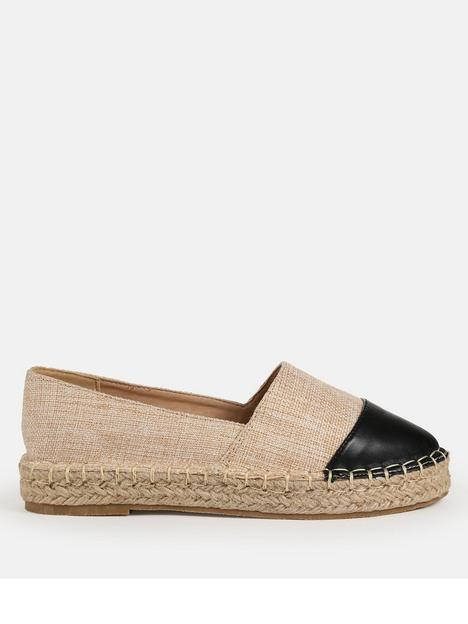 missguided-missguided-canvas-faux-leather-espadrilles-beige