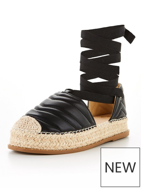 missguided-missguided-padded-espadrille-platform-tie-up-shoes-black