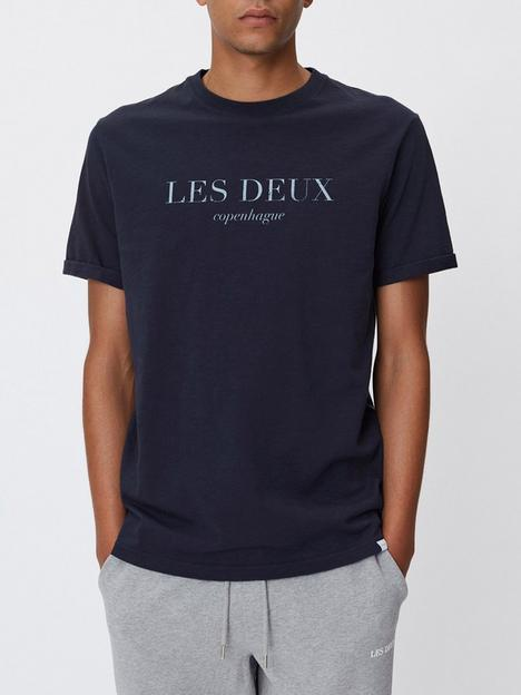 les-deux-amalfi-logo-t-shirt-navy
