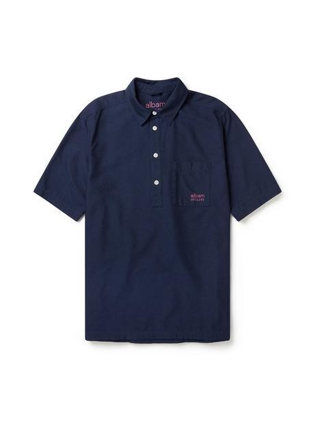 albam-utility-short-sleeve-pullover-shirt-navy