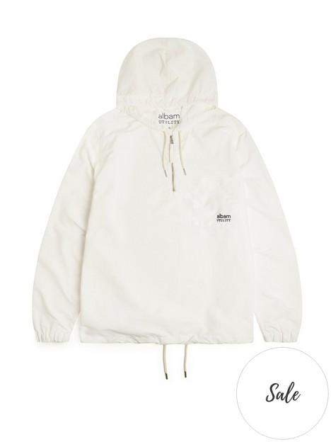 albam-utility-nylon-hooded-overshirt-ecru