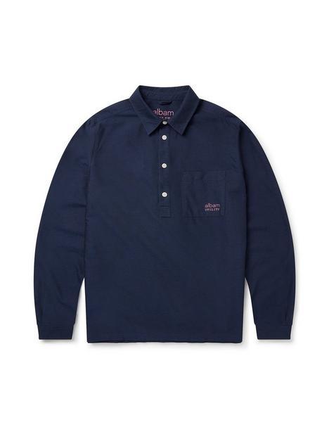 albam-utility-pullover-shirt-navy