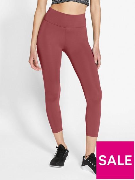 nike-the-one-crop-leggings-red