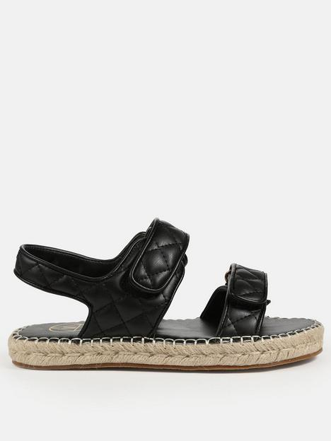 missguided-missguided-quilted-faux-leather-espadrille-sandals-black