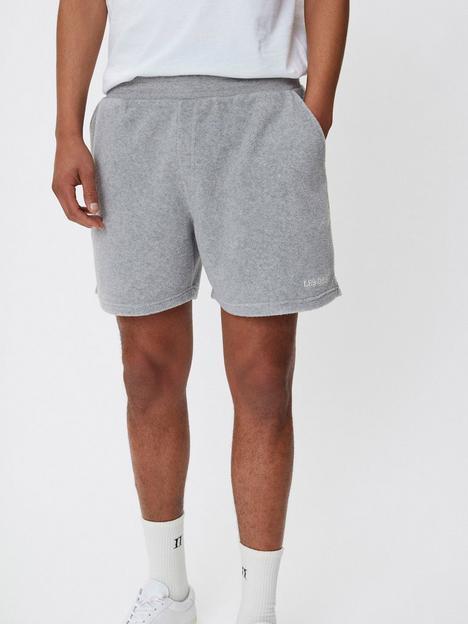 les-deux-lens-logo-jersey-shorts-grey