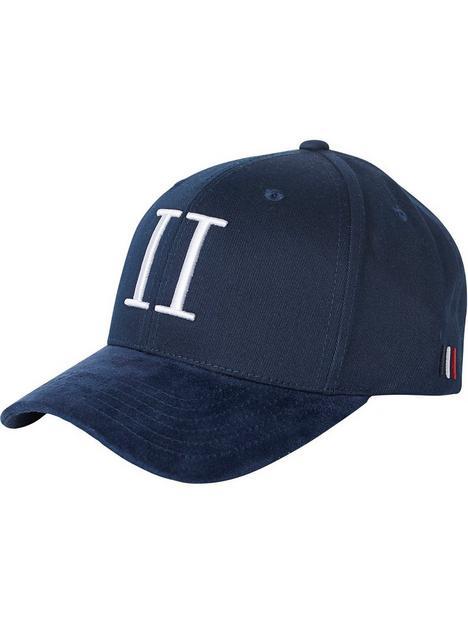 les-deux-encore-logo-suede-ii-baseball-cap-navy