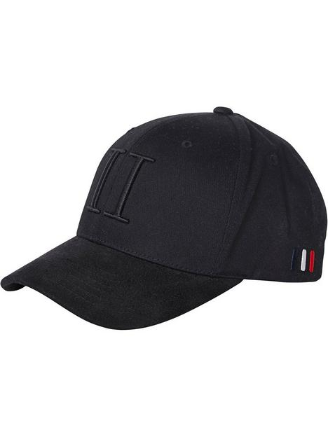 les-deux-encore-logo-suede-ii-baseball-cap-blacknbsp