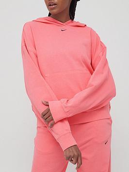 nike-nswnbspwash-effect-pullovernbsphoodie-pink