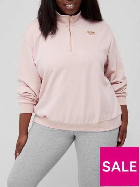 nike-nsw-femme-quarter-zip-sweat-curve-pinkgold