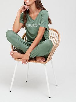 v-by-very-viscosenbspwellness-club-v-neck-jogger-pyjamas-green