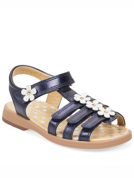 start-rite-picnic-flower-sandal-navy