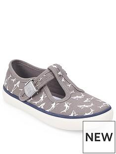 start-rite-surf-t-bar-canvas-shoe-grey