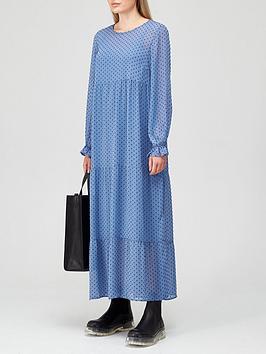 coster-copenhagen-dobby-maxi-dress-blue