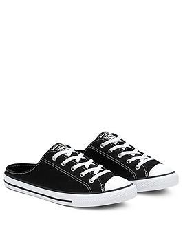Converse Chuck Taylor All Star Dainty Mule Slip Shoes -  Black, Black, Size 3, Women