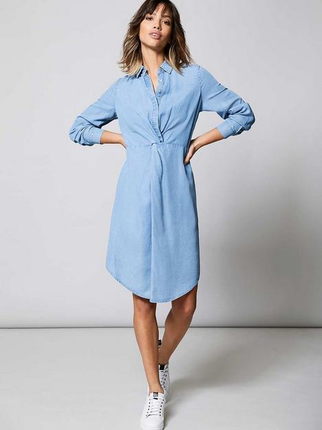 mint-velvet-twist-front-midi-shirt-dress-chambray