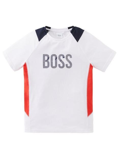 boss-boys-short-sleeve-colour-block-logo-t-shirt-white