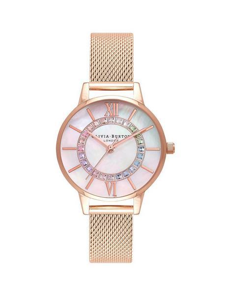 olivia-burton-olivia-burton-wonderland-rainbow-wonderland-mop-rose-gold-mesh-watch