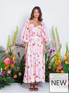 sundress-emilia-riviera-puff-sleeve-floral-dress-pink