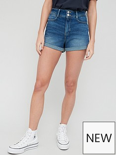 v-by-very-shaping-mom-short-dark-wash