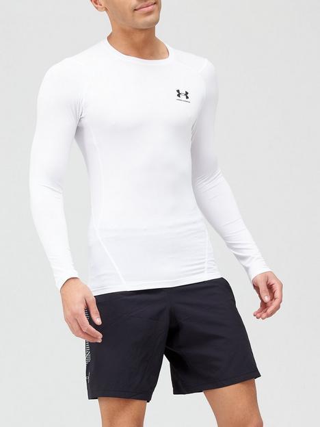under-armour-heatgear-armour-compression-long-sleeve-top-whiteblack
