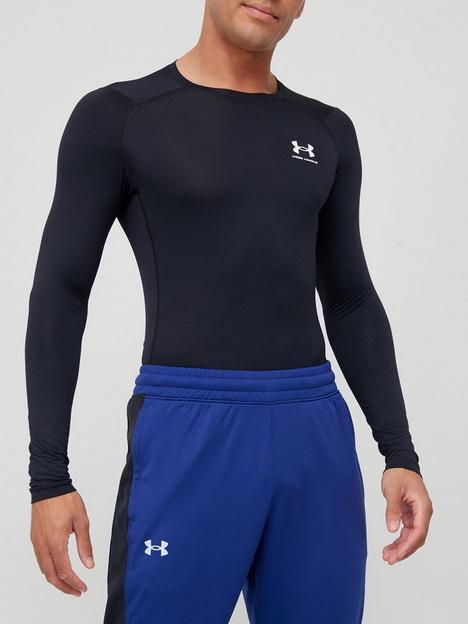 under-armour-heatgear-armour-comp-long-sleeve-blackwhite