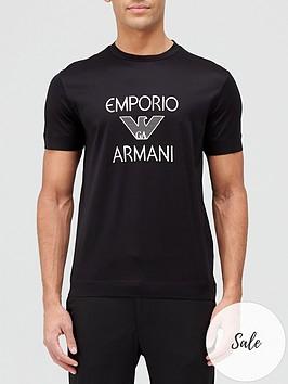 emporio-armani-large-logo-t-shirt-black