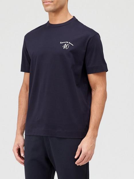 emporio-armani-40th-anniversary-small-logo-t-shirt-black