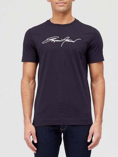 emporio-armani-signature-logo-t-shirt-black