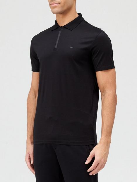 emporio-armani-zip-polo-shirt-black