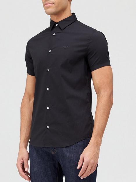 emporio-armani-classic-short-sleeve-shirt-black