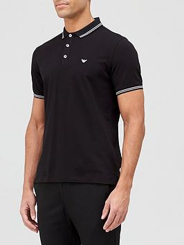 emporio-armani-tipped-collar-polo-shirt-black