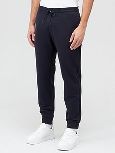 emporio-armani-classic-logo-print-joggers-black