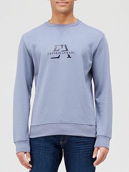 Emporio Armani 3D Logo Sweatshirt - Grey