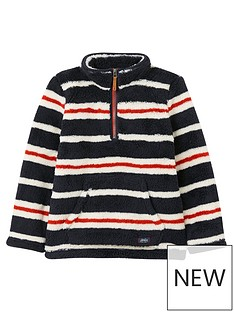 joules-boys-stripe-half-zip-woozle-fleece-navy