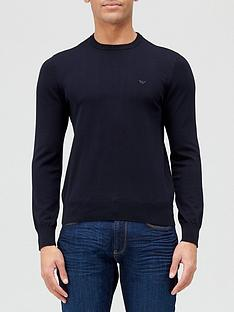 emporio-armani-classic-knitted-jumper-navy