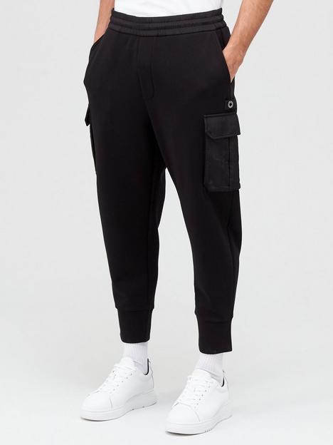 emporio-armani-patch-pocket-joggers-black