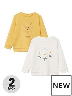 mango-baby-girls-2-pack-flower-and-sun-sweatshirts-multi