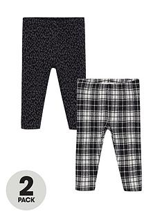 mango-baby-girls-2-pack-leggings-black