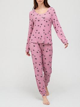 v-by-very-star-henley-top-andnbspjogger-lounge-pyjamas-star-print