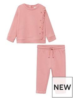 mango-baby-girls-frill-sweater-amp-jogger-set-pink