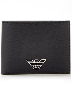 emporio-armani-mens-faux-leather-billfold-wallet-black