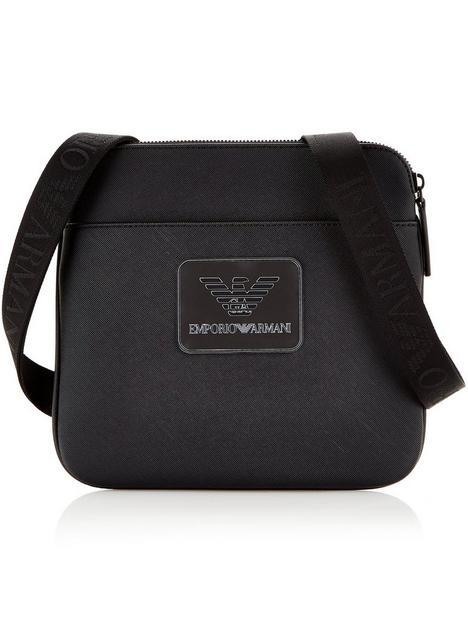 emporio-armani-mens-eagle-logo-cross-body-bag-black