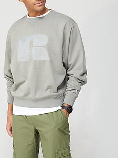 russell-athletic-justus-boxy-crew-sweat-top-khaki