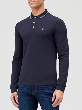 emporio-armani-tipped-collar-long-sleeve-polo-shirt-navy