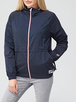 Superdry Lightweight Jacket - Navy, Navy, Size 12, Women