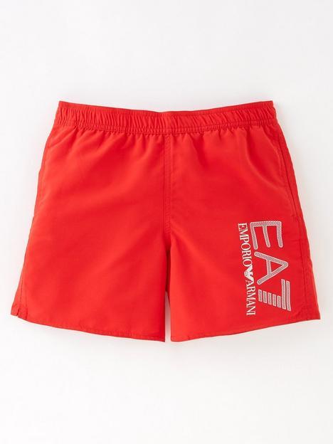 ea7-emporio-armani-boys-visability-logo-swim-shorts-red