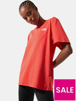 the-north-face-boyfriend-simple-dome-t-shirt-red