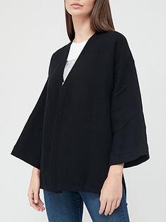 armani-exchange-cape-cardigan-black