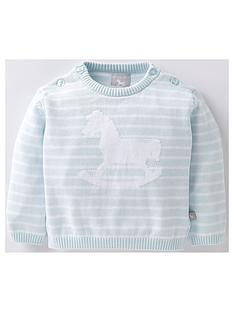 the-little-tailor-baby-boys-rocking-horse-stripey-jumper-blue