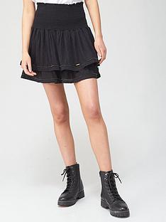 superdry-ameera-mini-smocked-skirt-blacknbsp